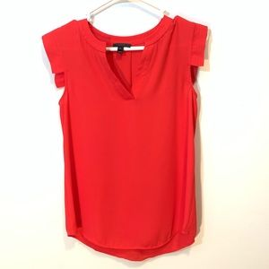 Petite J Crew V-Neck Band Sleeve Shell Tank Blouse